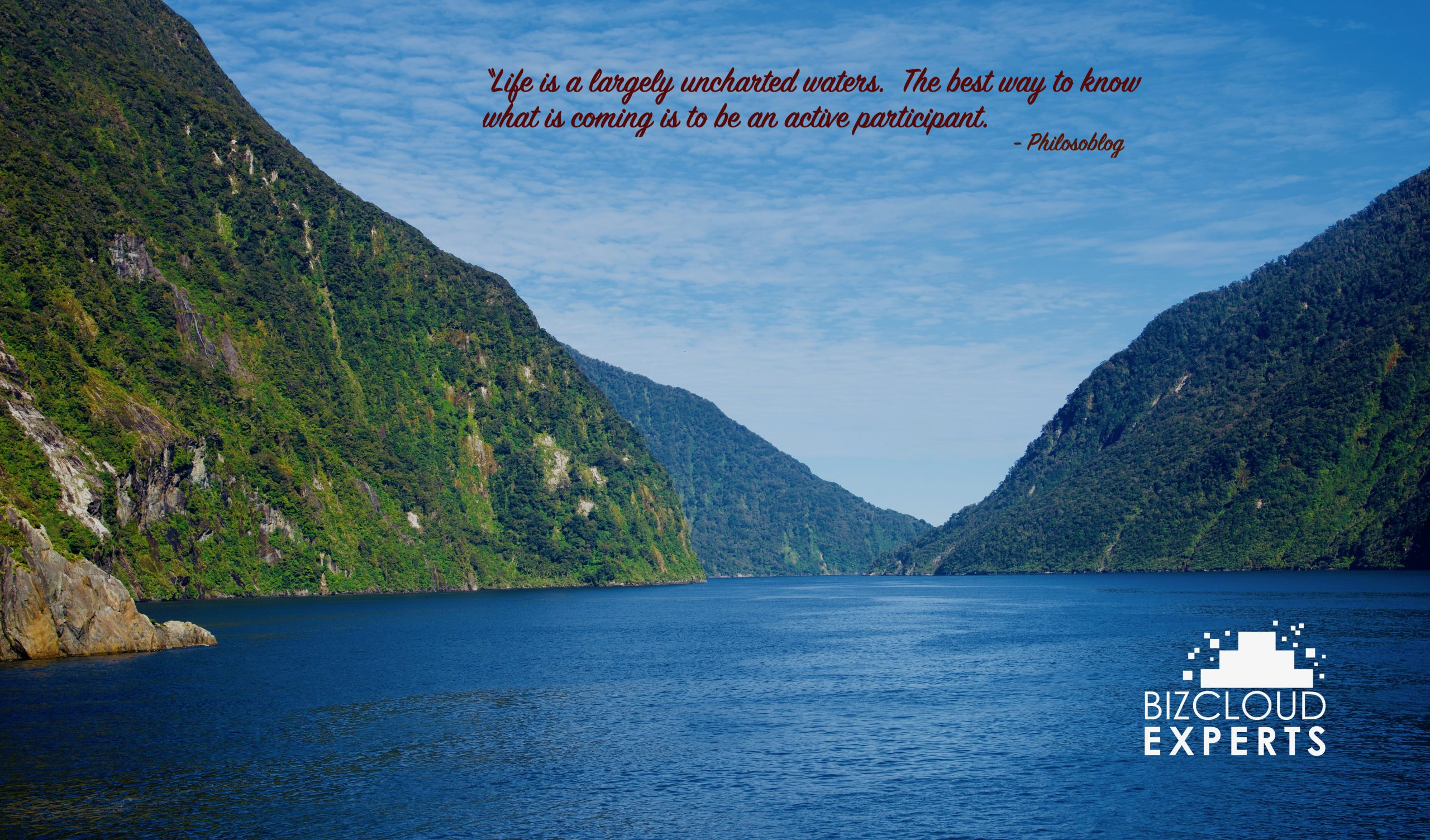 Life is largely unchartered waters